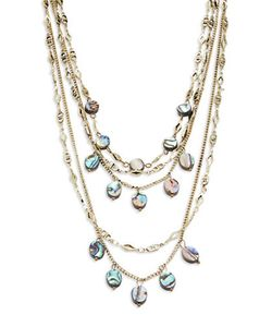 Noir | Mother-Of-Pearl Laye Necklace
