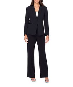 Tahari Arthur S. Levine | Peak Lapel One-Button Pants Suit