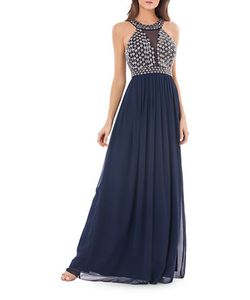 JS Collections | Embellished Empire-Waist Gown