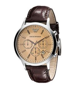 Emporio Armani | Leather Chronograph Watch