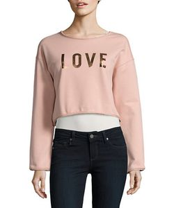 Highline Collective | Love Cropped Sweatshirt