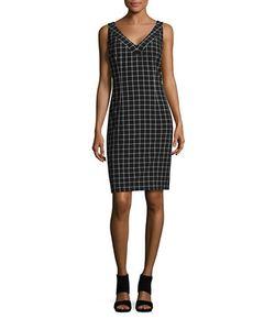 Michael Michael Kors | Checked Sheath Dress
