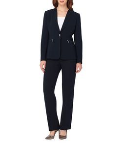 Tahari Arthur S. Levine | One Button Jacket And Pants Suit Set
