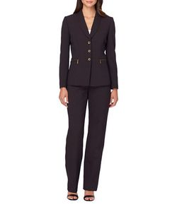 Tahari Arthur S. Levine | Solid Button-Accented Suit