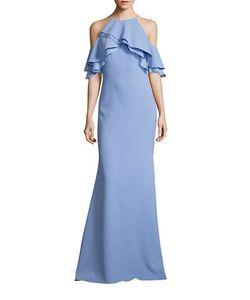 Badgley Mischka | Solid Cold-Shoulder Dress