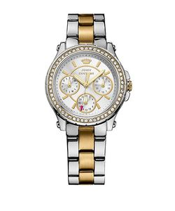Juicy Couture | Ladies Two-Tone Crystallized Pedigree Watch