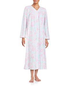 Miss Elaine   Petite Long Sleeved Fleece Nightgown