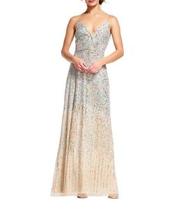 Adrianna Papell | Beaded Surplice Gown