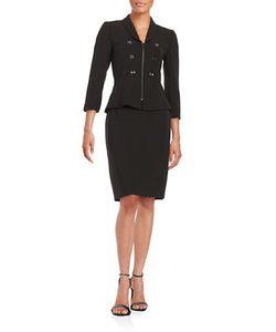 Tahari Arthur S. Levine | Plus Double-Breasted Skirt Suit Set