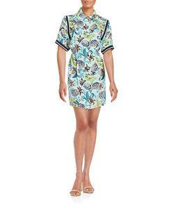 Anna Sui | Pineapple Print Shirt Dress