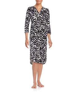 Lord & Taylor   Printed Knit Nightgown