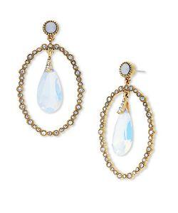 Jenny Packham | Orbital Stone Drop Earrings