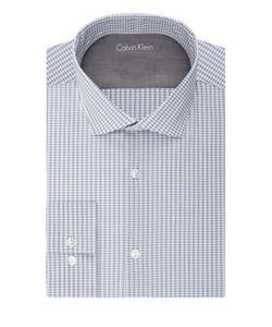 Calvin Klein | Slim Fit Grid Print Dress Shirt