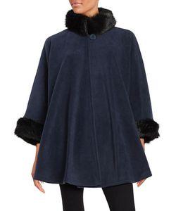 Parkhurst | Desmona Faux Fur Trimmed Fleece Cape