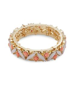 R.J. Graziano | Cabochon And Crystal Stretch Bracelet