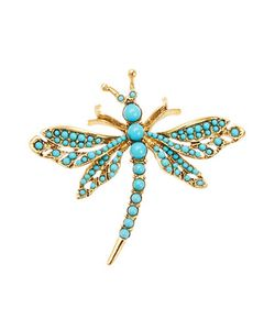 Kenneth Jay Lane | Turqouise Dragonfly Brooch