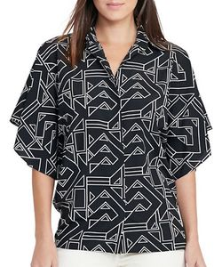 Lauren Ralph Lauren | Karlot Relaxed-Fit Geo Printed Shirt