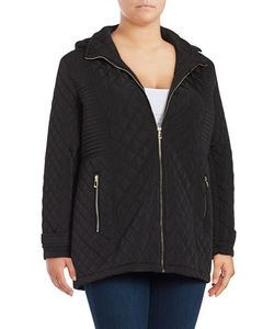 Calvin Klein Plus | Plus Removable Hood Quilted Coat