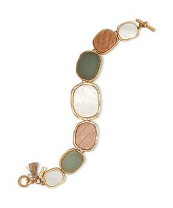 LONNA & LILLY | Cubic Zirconia And Semi-Precious Reconstituted Stones Bracelet