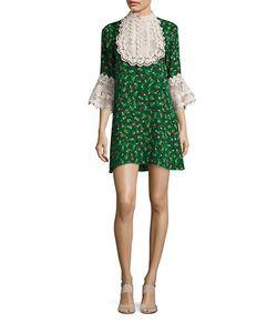 Anna Sui | Lace Bib Shirt Dress