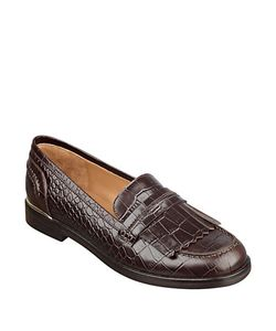 Marc Fisher LTD   Roryer Leather Fringe-Accented Loafers