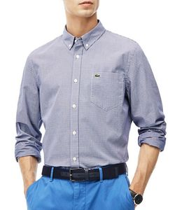 Lacoste | Slim Fit Textu Check Jacquard Woven Shirt