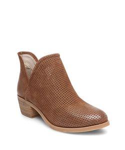 Steve Madden | Kolina Mid-Heel Perforated Leather Booties