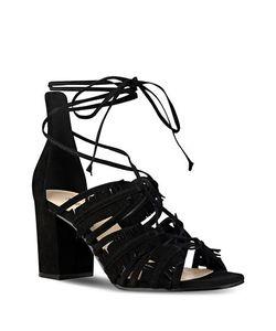 Nine West   Genie Suede Lace-Up Sandals