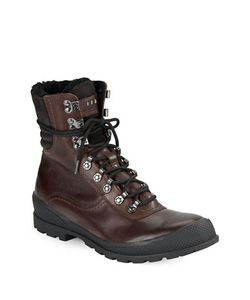 John Varvatos | Shearling Lined Leather Hiking Boots