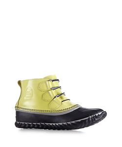 SOREL | Out And About Patent Leather Rubber Duck Booties