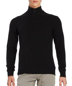 Black Brown | Quarter Zip Cashmere Sweater