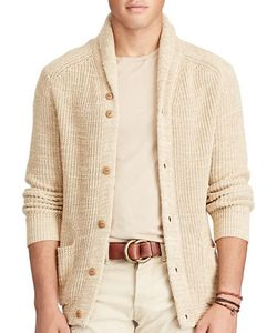 Polo Ralph Lauren | Cotton-Linen Shawl Cardigan