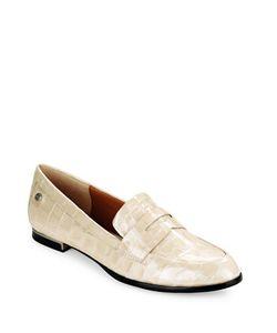 Calvin Klein   Celia Croc Embossed Loafers