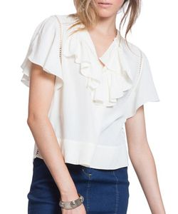 Plenty by Tracy Reese | Solid Open-Knit Top