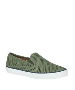 Sperry | Seaside Perforated Leather Sneakers