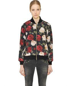 Blugirl | Floral Print Light Cady Bomber Jacket