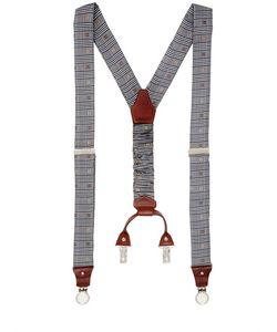 Cor Sine Labe Doli | Prince Of Wales Printed Silk Suspenders