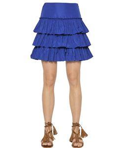 Blugirl | Tiered Ruffled Taffeta Skirt