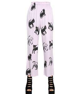 Claire Barrow   Printed Silk Pants