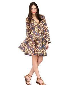 Yvonne S | Printed Cotton Mini Hippy Dress