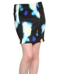 Minimarket | Backlit Print Neoprene Skirt