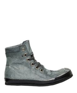 A Diciannoveventitre | Washed Leather High Top Sneakers