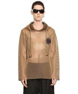 Xander Zhou | Hooded Techno Mesh Sweatshirt