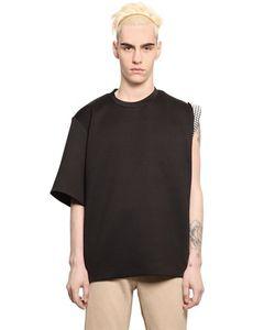 Xander Zhou | Neoprene Blend One Sleeve T-Shirt