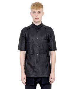 Alexandre Plokhov | Nappa Leather Short Sleeve Shirt