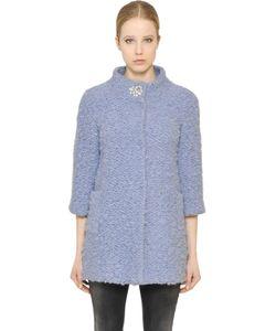 Blugirl | Embellished Wool Blend Boucle Coat