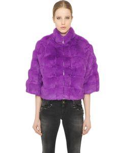 Blugirl | Short Rabbit Fur Coat