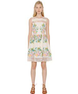Blugirl | Embroidered Cotton Toile Organza Dress