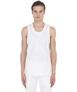 Calvin Klein Jeans | Infinity White Cotton Jersey Tank Top