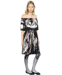 Claire Barrow   Ruffled Printed Satin Dress